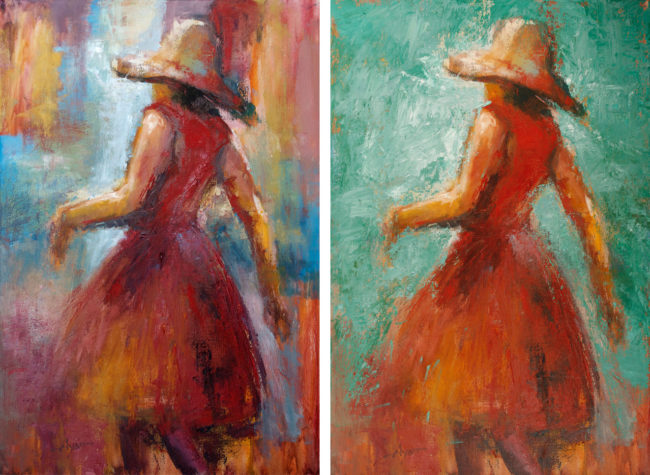 red-dress-sun-hat-bef-aft