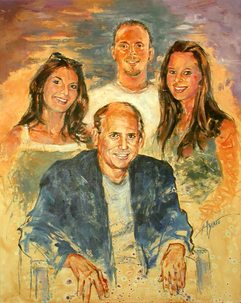 Amen Family By Hyatt Moore Painter