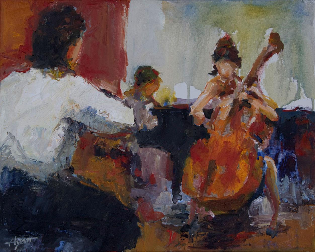 Chamber Trio 2 By Hyatt Moore Painter
