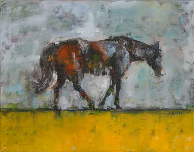 Horse Gesture on Yellow