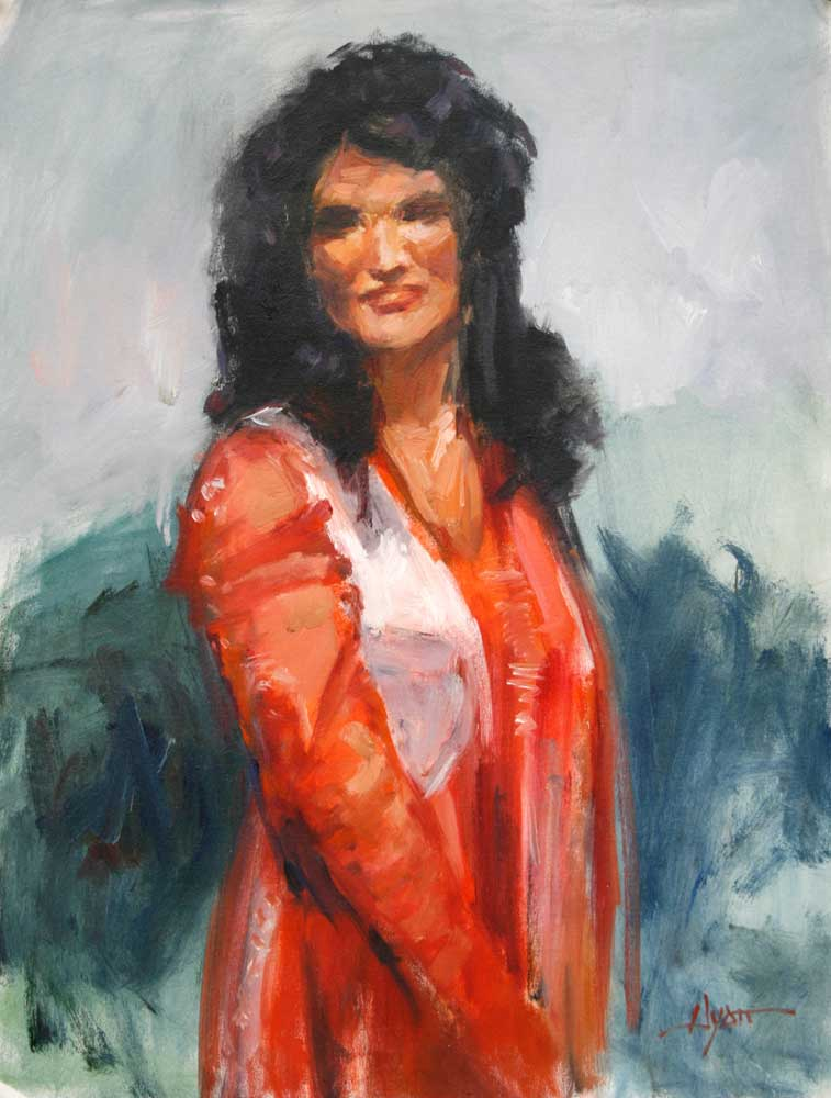 Talar in Red by Hyatt Moore - Painter
