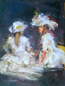 White Hats White Dresses