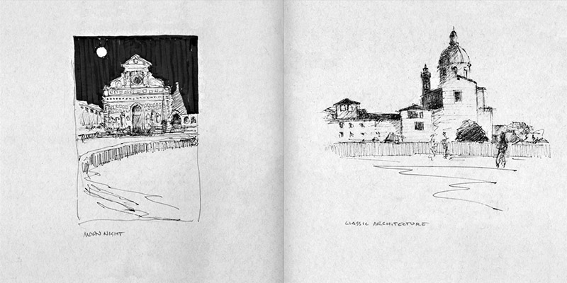 Sketches of Italy pages 62-63